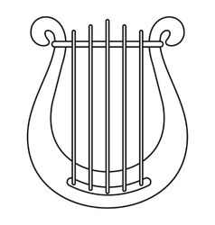 Harp icon outline style vector image