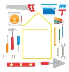 House remodel tools vector