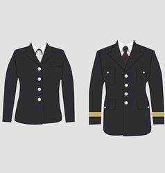 Military uniform set vector image