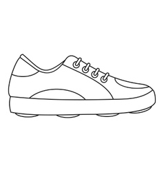 Modern golf shoe icon outline style vector