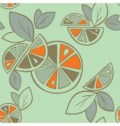 orange seamless pattern vector image vector image