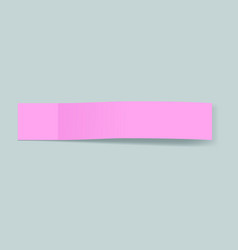 pink bookmark concept background realistic style vector image