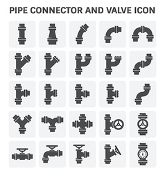 Pipe connector icon vector image vector image