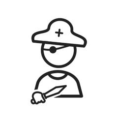 Pirat Boy vector image