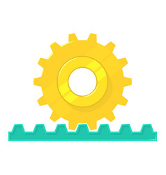 Rack pinion icon cartoon style vector
