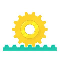 Rack pinion icon cartoon style vector