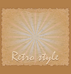 retro style poster horizontal vector image vector image