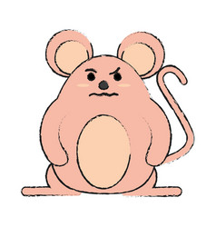 Rude face mouse rodent vector