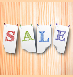 sale paper style labels set vector image vector image
