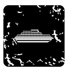 Ship icon grunge style vector