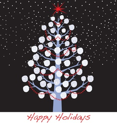 snowball christmas holiday tree vector image