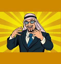 Successful arab businessman vector