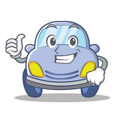 thumbs up cute car character cartoon vector image