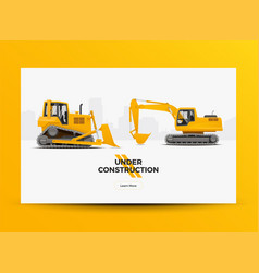 under construction banner vector image vector image