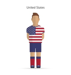 United states football player soccer uniform vector