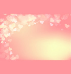 003 blur heart on light pink abstract background vector