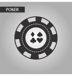 Black and white style poker chips vector