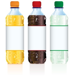 Soft Drink Bottles vector image