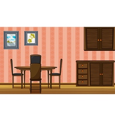 A wooden furniture vector