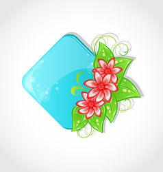 Bouquet flowers and place for text vector image