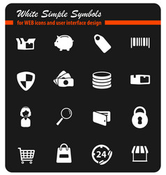 E-commerce simply icons vector