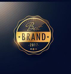 Best brand golden badge and label design vector