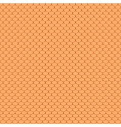Seamless terracota roof tile vector