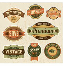 Retro business labels and badges vector
