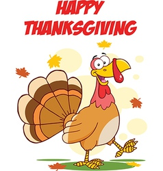 Thanksgiving turkey cartoon vector