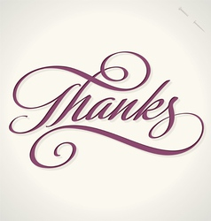 Thanks hand lettering vector