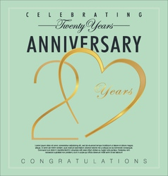 20 years Anniversary background vector image