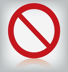 Sign forbidden isolated vector