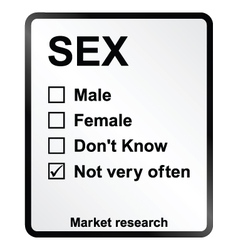 Market research sex sign vector
