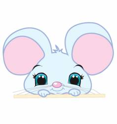 Peeking mouse vector