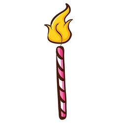 A coloured skech of a burning candle vector