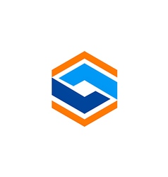 Abstract geometry technology square logo vector