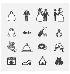 Wedding icon vector