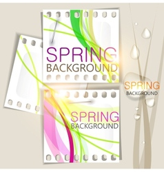 Spring background film vector