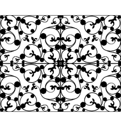 Wrought iron seamless pattern vector