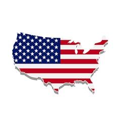 Usa flag map vector