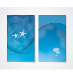 Banner set with blue background vector image