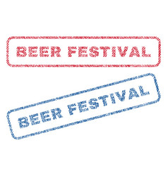 Beer festival textile stamps vector