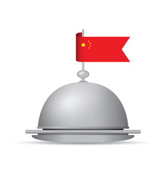 China flag dinner platter vector