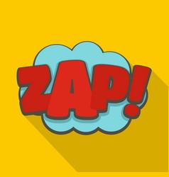 Comic boom zap icon flat style vector