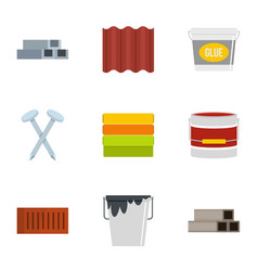 Construction tool icon set flat style vector