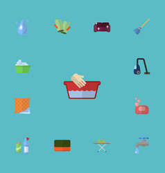 flat icons sofa aqua faucet and other vector image vector image