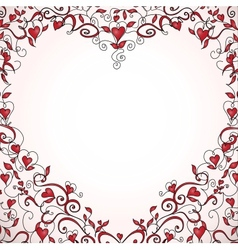 Heart-shaped frame vector image