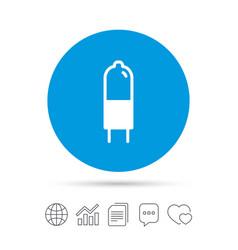Light bulb icon lamp g4 socket symbol vector