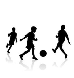 Little soccer players vector