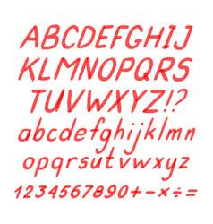 Marker hand written doodle symbols vector